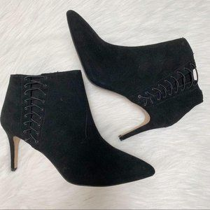 INC Tovie Suede Pointed Toe Ankle Boots Size 9.5